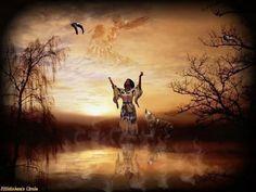 Native american woman Wolf