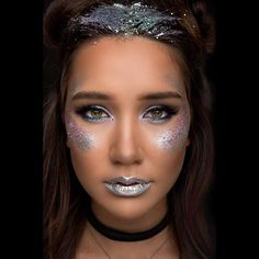 @beautbysalem 's Galaxy Princess Dazzle Rocks Makeup Finishes Look!! Full Video Link is in the bio!  Products Used: The Big Brush Mirror Mirror Chrome Dazzle Dust Glam Squad Loose Dazzle Rocks Rising Star Loose Dazzle Rocks Let It Shine Dazzle Rocks and K