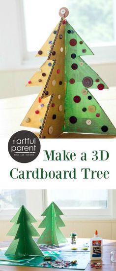 How to Make a 3D Cardboard Christmas Tree
