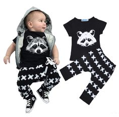 Newborn Baby Boys Girls Spider Hoodie Outfits Long Sleeve Shirt Tops Pant 2Pcs Clothes Set