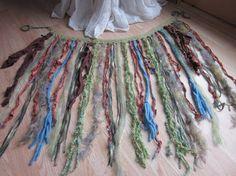 Tribal Belly Dance skirt Pattern   Items similar to Yarn Skirt - Fringe Belt - Tribal belly Dance ...