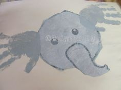 Ella the Elephant is all Ears: Preschool Ee/grey art project/craft. So cute! Love little hand-prints!