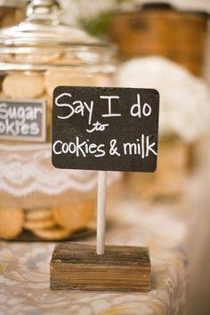 A vintage inspired Santa Barbara wedding, complete with school bus! Cookie Bar Wedding, Wedding Snacks, Wedding Cookies, Wedding Favours, Wedding Reception, Rustic Wedding, Reception Ideas, Wedding Signs, Our Wedding