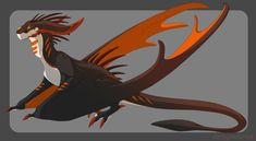 [Character Auction] Wyvern [Closed] by Dinkysaurus on DeviantArt Dragon King, Dragon Art, Fantasy Creatures, Mythical Creatures, Cool Dragons, Wings Of Fire, Monster Art, Dungeons And Dragons, Fantasy Art