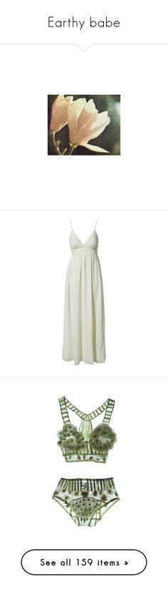 """Earthy babe"" by aaegia ❤ liked on Polyvore featuring pictures, pics, backgrounds, filler, dresses, turtledove, womens-fashion, maxi dress, lined maxi dress and v neck maxi dress"