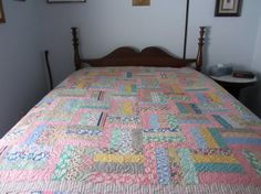 Beautiful Vintage 1930's full/Queen size quilt by lindacbosborn, $350.00