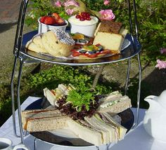 A fantastically British Afternoon Tea at the Marygreen Manor hotel.