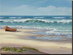 Sandpiper March II Reproducción en lienzo de la lámina por Sung Kim en AllPosters.com.ar.