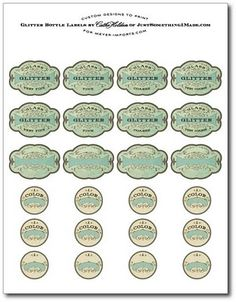 several free vintage labels