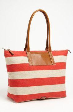 Handbags under 100 (dollars): Nordstrom Stripe Tote | http://girlaccessorycollectionsbrooke.blogspot.com