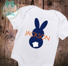 Personalized Baby Boy clothes Personalized Easter Bodysuit baby shirt baby boy 1st Easter First Easter Personalized Shirt Bunny Blue bunny by babyfables on Etsy https://www.etsy.com/listing/265535969/personalized-baby-boy-clothes