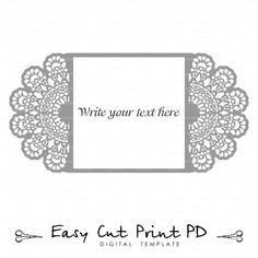 Boda invitación de encaje crochet tapete por EasyCutPrintPD en Etsy