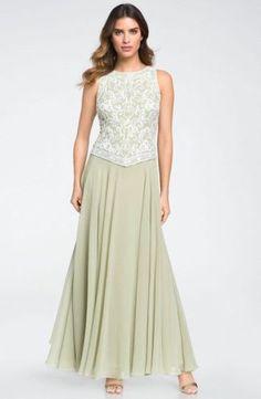 $238 Sz 16 J Kara Beaded Mock Two Piece Gown Wrap Mother of The Bride | eBay