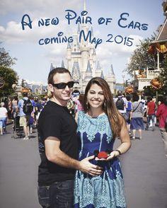 Our Disney pregnancy announcement Disney Pregnancy Announcement, Pregnancy Photos, Pregnancy Announcements, Maternity Pictures, Baby Pictures, Baby Photos, Lets Make A Baby, Disney Maternity, Baby Time