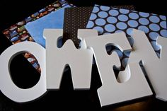 decoupage letters for a nursery