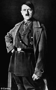 Hitler pictured in 1934. He remembered his time in the army fondly and was proud of his service in the war.  What a junkie!
