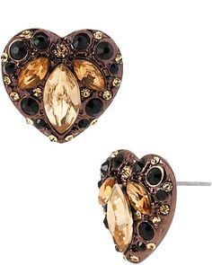 HOLLYWOOD GLAM HEART STUD