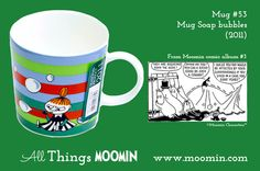 Moomin mug Soap bubbles by Arabia - Moomin Moomin Mugs, Soap Bubbles, Troll, Tableware, Townhouse, Cups, Anna, History, Dinnerware