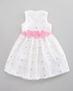 Flower Girl Dress - Sequin Daisy Dress by David Charles at Neiman Marcus. Frocks For Girls, Kids Frocks, Little Girl Dresses, Baby Girl Dress Patterns, Skirt Patterns, Coat Patterns, Blouse Patterns, Sewing Patterns, Girls Fashion Clothes