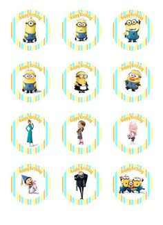 Despicable Me Party - Cupcake Toppers