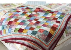 Cherry Heart: Giant Granny Patches..great idea for a blanket!
