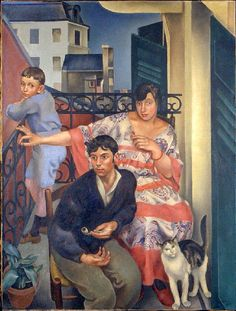 Henry Meylan - Le Balcon [The Balcony] - 1923 - Oil on canvas