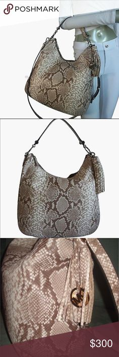 Michael Kors Frances bag! Michael Kors Frances embossed leather XL shoulder bag! Michael Kors Bags Shoulder Bags