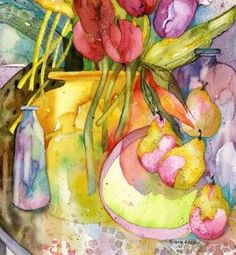 Watercolour by Sara.  Title: Trevena Thankyou