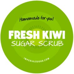 Fresh Kiwi Sugar Scrub - Use our free, downloaded Kiwi Sugar Scrub label for your next batch of Kiwi Sugar Scrub. We make it easy to give your homemade creation to someone you love. Sugar scrubs are fun for teacher gifts, neighbors, family and friends. They are a fun girl scout troop project or birthday party activity, too!