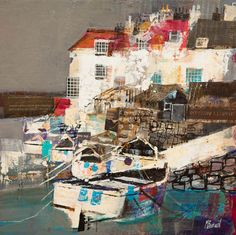Mike Bernard. HARBOUR COTTAGES, LOW TIDE