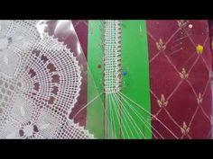 Risultati immagini per concha bolillos Bobbin Lace Patterns, Lacemaking, Lace Heart, Lace Jewelry, Needle Lace, Lace Detail, Tatting, Arts And Crafts, Youtube