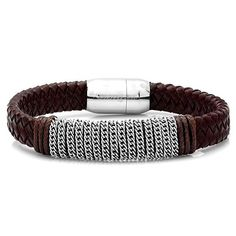 Brown Leather Birch Bracelet - Save 80% only $12.95