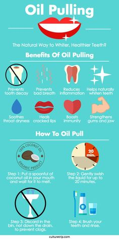 Oil Pulling: The Natural Way To Whiter, Healthier Teeth? Oil Pulling: The Natural Way To Whiter, Healthier Teeth?,Nutrition facts Oil pulling is a natural way to add moisture back to your lips and gums. Best Teeth Whitening Kit, Teeth Whitening Remedies, Natural Teeth Whitening, Coconut Teeth Whitening, Oil Pulling Teeth Whitening, Essential Oils Teeth Whitening, Homemade Teeth Whitening, Homemade Toothpaste, Teeth Health