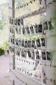 Polaroid guest book display