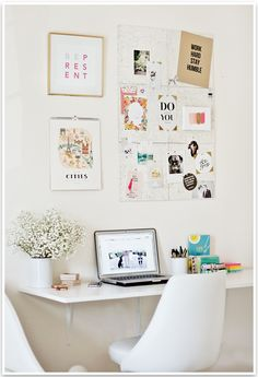 Home office in nice clean white #homeoffice