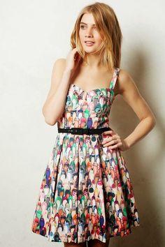 """Eva Franco """"Well-Heeled"""" Shoe-Print Dress"""