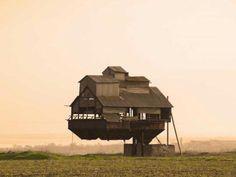Casa flotante en Odesa. Ucrania