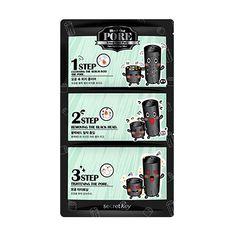 [SECRET KEY] Black Out Pore 3-Step Nose Pack 7g*1pcs / Mild pore control…