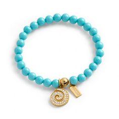 Coach :: Pave Swirl Mini Bead Bracelet