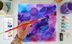 DIY: Watercolor Wall Art