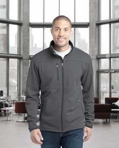 ae230b76 Get a young, rich and tidy look in this Port Authority F222 men's fleece  jacket