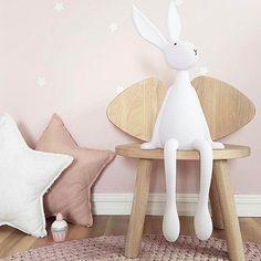 Get the best modern nursery decor ideas, we specialize in Scandi nursery and kids room interiors. Luxury Nursery, Modern Nursery Decor, Baby Room Decor, Bunny Lamp, Decoration Photo, Deco Kids, Scandinavian Nursery, Fabric Toys, Doll Maker
