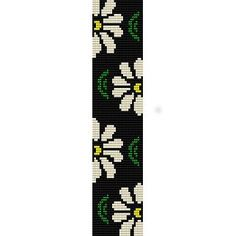 DAISIES 1 - LOOM beading pattern for cuff bracelet (buy any 2 patterns - get 3rd FREE)