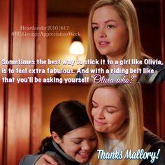 """callmebethany2010: """" Heartland Season 6 Episode 17 Georgie Appreciation Week…"""