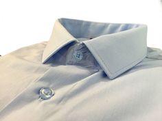 Купить Мужская приталенная рубашка синего цвета в интернет магазине мужской одежды OTOKODESIGN