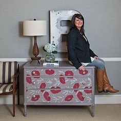 Painting and Refinishing Furniture: Chest of Drawers After < Painting and Refinishing Furniture Tips - Southern Living