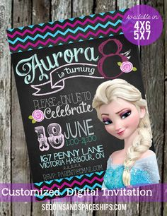 Hey, I found this really awesome Etsy listing at https://www.etsy.com/listing/189933101/frozen-invitation-chalkboard-summer