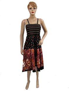 Cotton Skirt Smocked Dress Skirts Floral Printed « Clothing Impulse