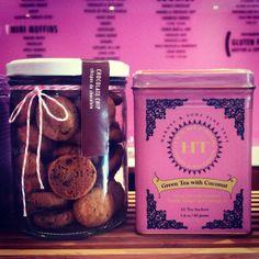 Mini Cookies y Té, perfecta combinación para regalar.