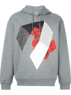 MCQ ALEXANDER MCQUEEN Floral Collage Print Hoodie. #mcqalexandermcqueen #cloth #hoodie